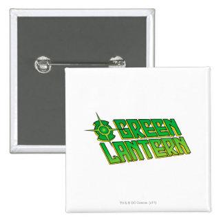 Green Lantern Logo - Slanted Pinback Button