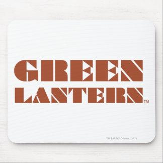 Green Lantern Logo - Tan Mouse Pad