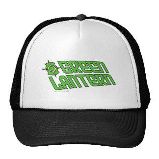 Green Lantern Logo Tilted Mesh Hats