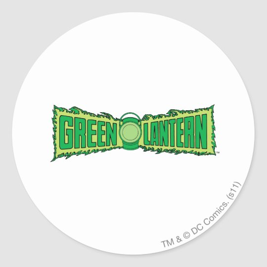 Green Lantern Logo with Lantern Classic Round Sticker
