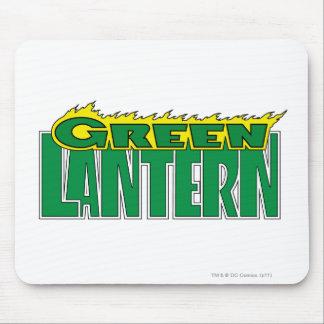 Green Lantern Logo - Yellow Flames Mouse Pad