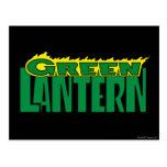 Green Lantern Logo - Yellow Flames Postcard