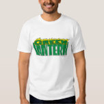 Green Lantern Logo - Yellow Flames Tee Shirt