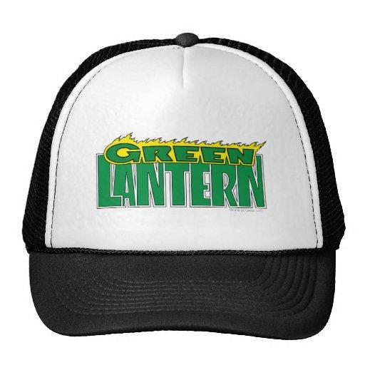 Green Lantern Logo - Yellow Flames Trucker Hat