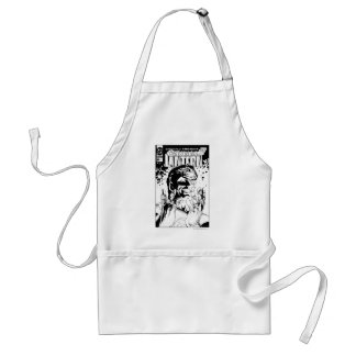 Green Lantern  - Many Rings, Black and White Adult Apron