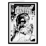 Green Lantern  - Many Rings, Black and White Card