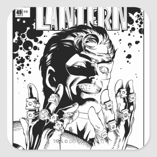 Green Lantern  - Many Rings, Black and White Stickers