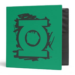 Green Lantern Marker Symbol Vinyl Binders