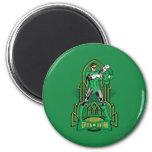 Green Lantern on decorative background 2 Inch Round Magnet