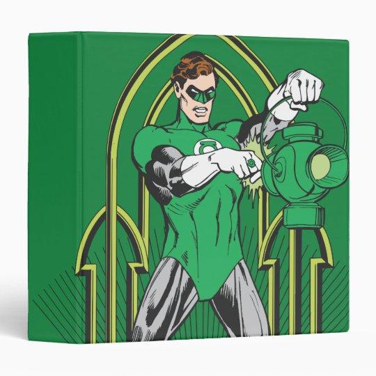 Green Lantern on decorative background Binder