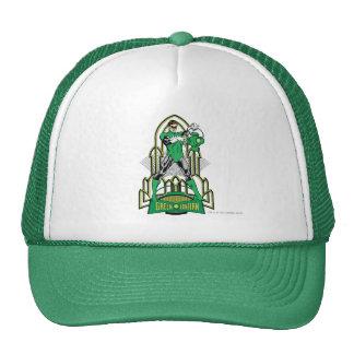 Green Lantern on decorative background Mesh Hat