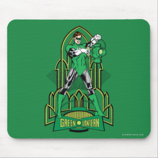 Green Lantern on decorative background Mouse Pad