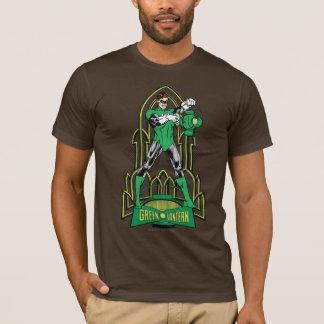 Green Lantern on decorative background T-Shirt