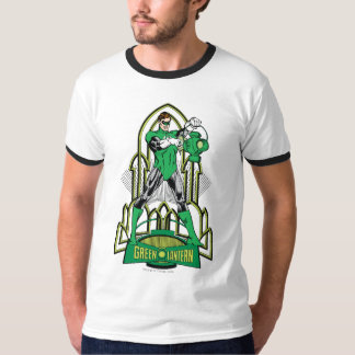 Green Lantern on decorative background T-Shirt