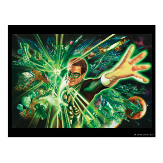 Green Lantern Painting Postcard