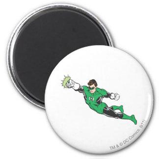 Green Lantern Punches 2 Inch Round Magnet