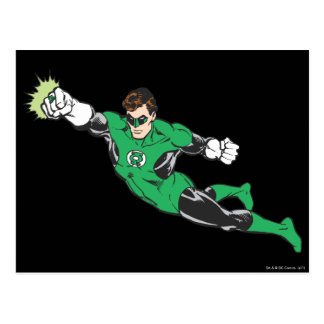Green Lantern Punches Postcard