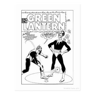 Green Lantern Removes Ring, Black and White Postcard