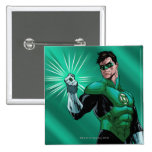 Green Lantern & Ring 2 Inch Square Button