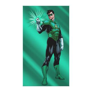 Green Lantern & Ring Canvas Print