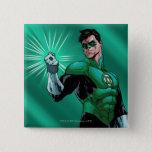 Green Lantern & Ring Pinback Button