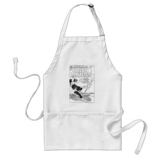 Green Lantern - Runaway Missile, Black and White Adult Apron