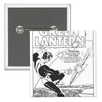 Green Lantern - Runaway Missile, Black and White Button