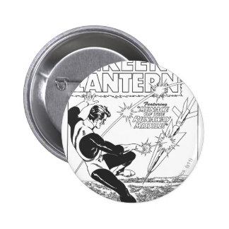 Green Lantern - Runaway Missile, Black and White Pinback Button
