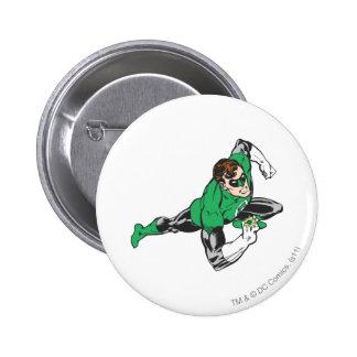 Green Lantern Runs Pinback Button