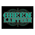 Green Lantern Showtime Letters Greeting Cards