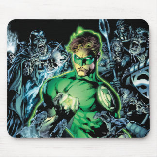 Green Lantern Surrounded - Color Mouse Pad