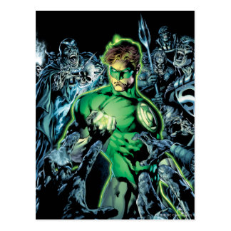 Green Lantern Surrounded - Color Postcard