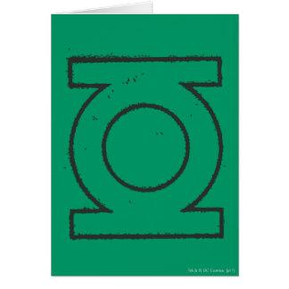 Green Lantern Symbol BW Card