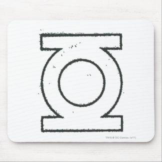 Green Lantern Symbol BW Mouse Pad