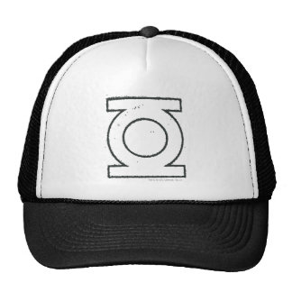 Green Lantern Symbol BW Trucker Hat