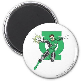 Green Lantern & Symbol 2 Inch Round Magnet