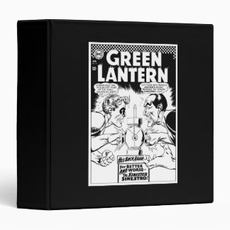 Green Lantern vs Sinestro, Black and White 3 Ring Binder