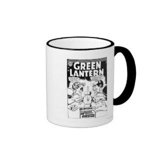 Green Lantern vs Sinestro, Black and White Ringer Mug