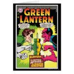 Green Lantern vs Sinestro Greeting Card