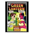 Green Lantern vs Sinestro Postcard