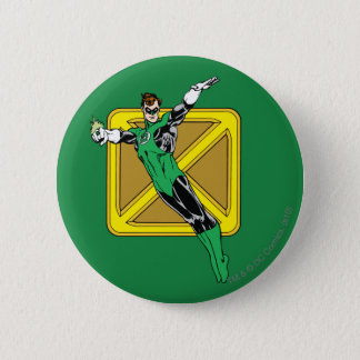Green Lantern  with Background Pinback Button