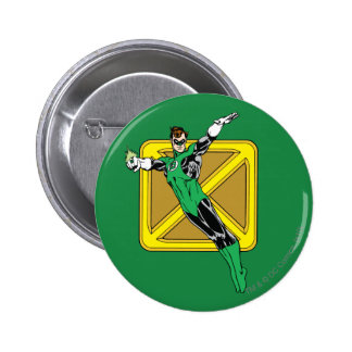 Green Lantern  with Background Pinback Button