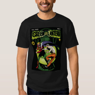 Green Lantern with cape in fight Tee Shirt
