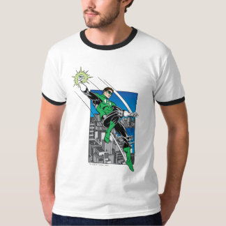 Green Lantern with City Background Tee Shirt