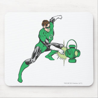 Green Lantern with Lantern 2 Mouse Pad