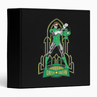 Green Lantern with Letters 3 Ring Binders