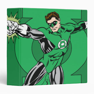 Green Lantern with Logo Background Binder