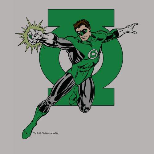 Green Lantern with Logo Background shirt