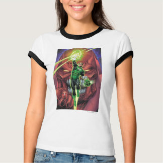 Green Lantern with stream of light - Color T-Shirt