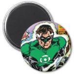 Green Lanterns Flying 2 Inch Round Magnet